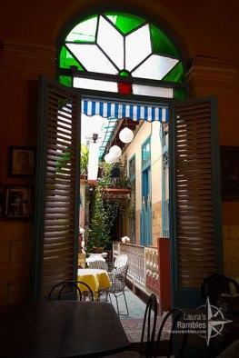 Lauras-Rambles-cafe-arcangel-walkway-Cuba
