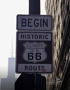 Route 66 road sign - close up