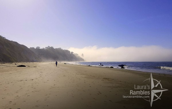 Morning mist dissipating on Arroyo Burro Beach County Park