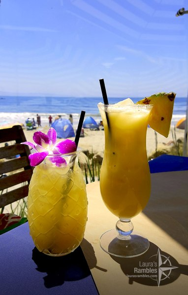 Fruity drinks at Boathouse at Hendry's Beach