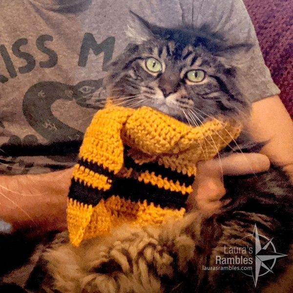 Hufflepuff scarf crocheted