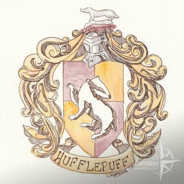 Hufflepuff crest watercolor