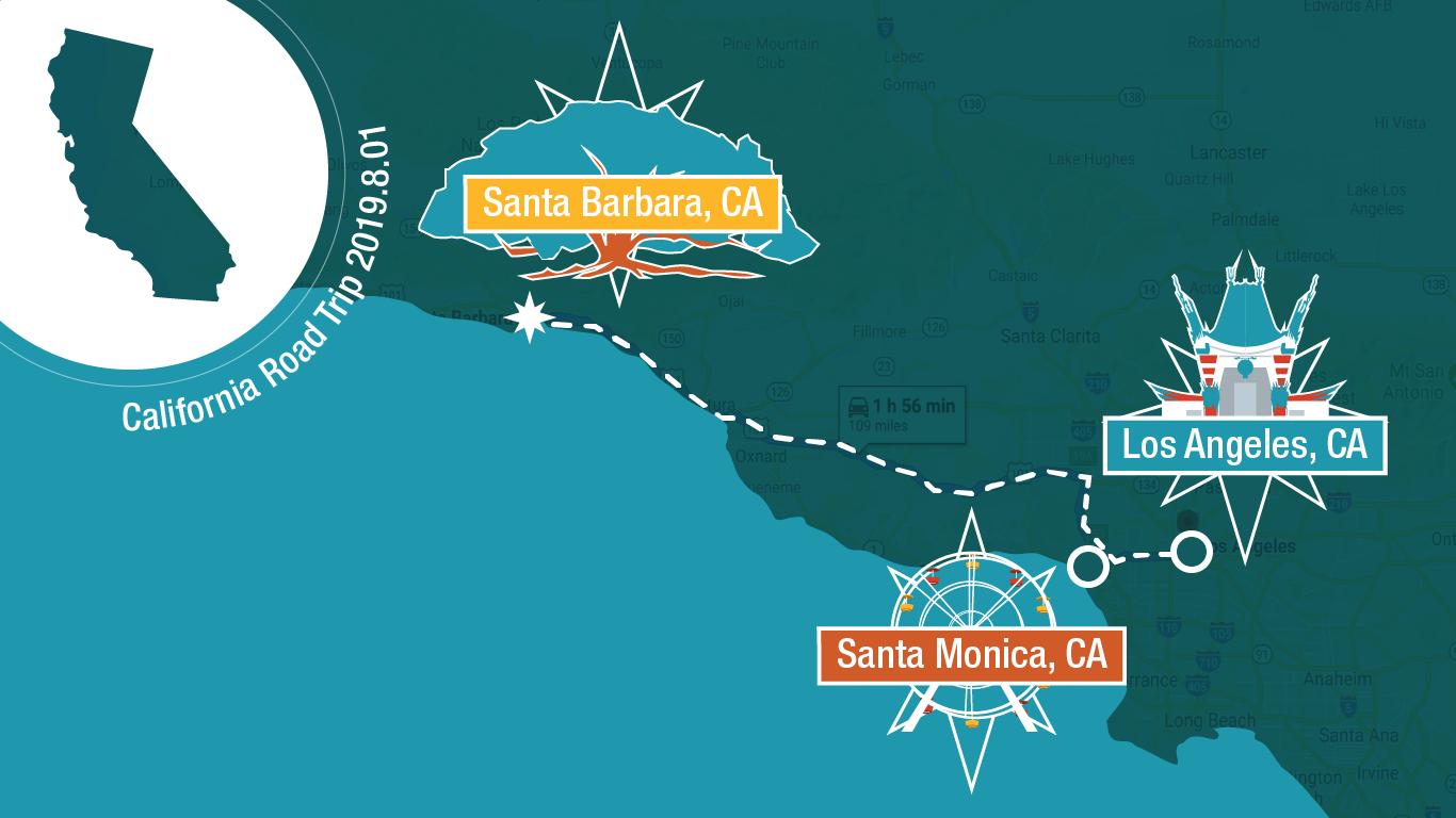 road trip graphic final california