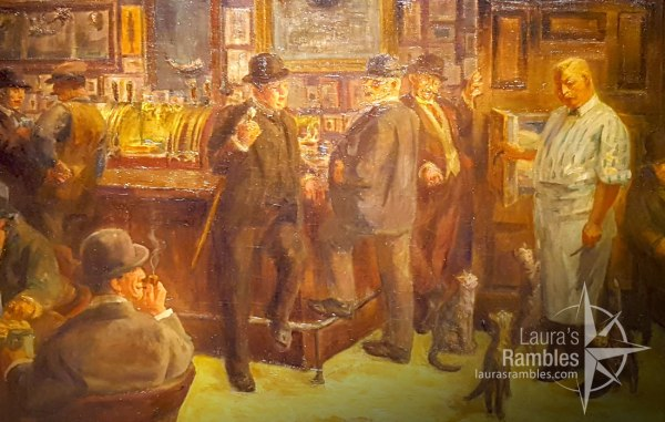 """I couldn't resist taking a pic of a cat centric painting! """"McSorely's Cats"""" by John Sloan"""