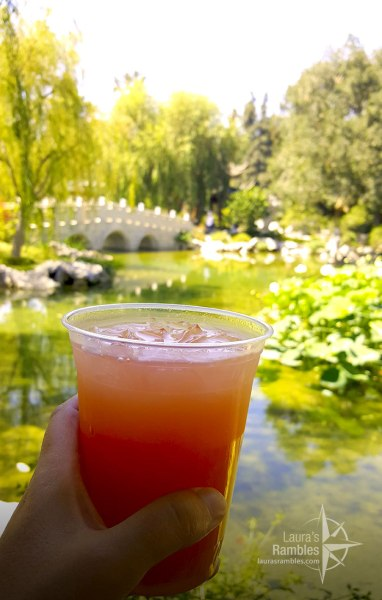 It's important to stay hydrated - this delicious drink from The Huntington was a ginger watermelon lemonade