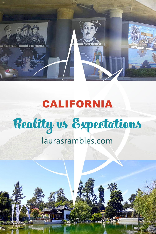 Pinterest image - California - Reality vs Expectations